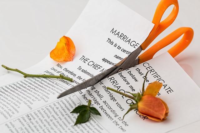 zničené manželství