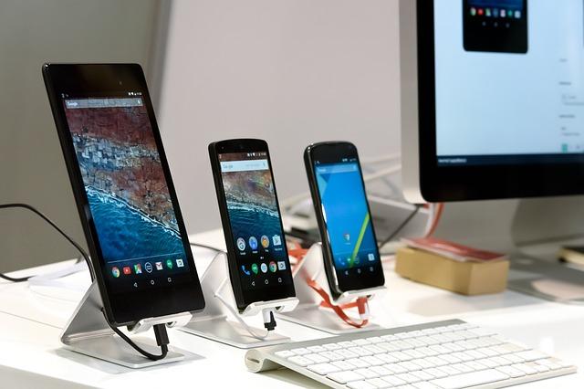 vystavené telefony